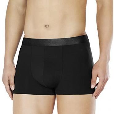 DAVID ARCHY Men's Underwear Ultra Soft Micro Modal Trunks Boxer Briefs with Fly Boxer Shorts