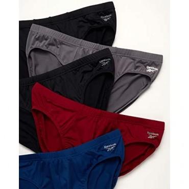 Reebok Men's Underwear - Low-Rise Quick Dry Performance Briefs (5 Pack) - Exclusive