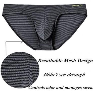ZONBAILON Men's Big Pouch Briefs Underwear Bulge Enhancing Low Rise Briefs for Men Pack M L XL 2XL