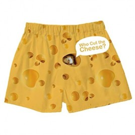 BRIEF INSANITY Men's Boxer Shorts Underwear Mouse and Cheese Print