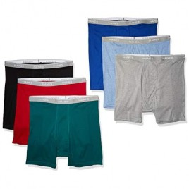 Hanes Men's Tagless Boxer Briefs with Comfort Flex Waistband Multipack 6 Pack - Assorted Large