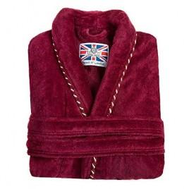 Bown of London Men's British Bathrobe - The Earl Claret