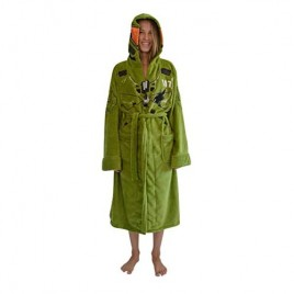 Halo Infinite Master Chief Hooded Bathrobe for Men And Women | Soft Plush Spa Robe | Lightweight Fleece Housecoat With Belted Tie | One Size Fits Most Adults