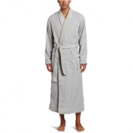 Majestic International Men's Lined Sanded Micro Robe