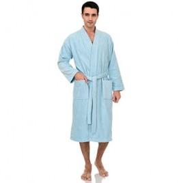 TowelSelections Men's Luxury Robe  Turkish Cotton Terry Kimono Soft Bathrobe