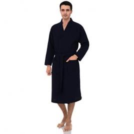 TowelSelections Men's Waffle Weave Robe Shawl Spa Bathrobe Made in Turkey
