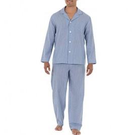 Fruit of the Loom Men's Long Sleeve Broadcloth Pajama Set