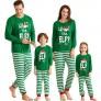 IFFEI Matching Family Christmas Pajamas Sets ELF Tee and Striped Bottom PJ's