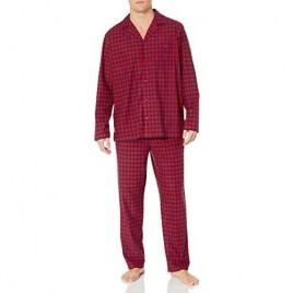 Nautica Men's Cozy Fleece Plaid Pajama Set