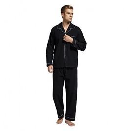 TONY AND CANDICE Men's Flannel Pajama Set  100% Cotton Long Sleeve Sleepwear