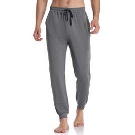 COLORFULLEAF Men's Cotton Pajama Pants Soft Jogger Sleep Bottoms Long Lounge Pant with Pockets