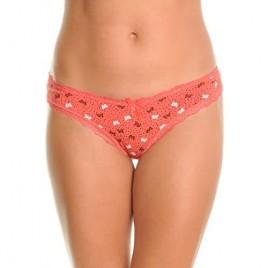 Angelina Cotton Brazilian Cut Bikini Panties with Butterfly Print (6-Pack)