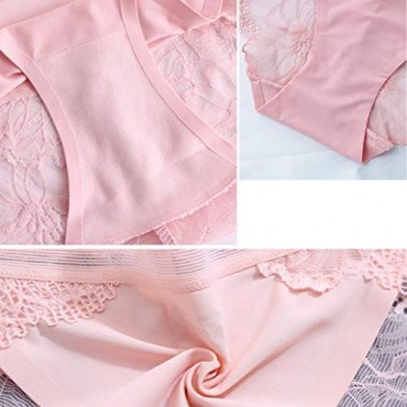 Underwear women Lace Hipster Seamless Invisible Bikini Panties Mid Rise Silky Comfort Sexy Ladies Briefs 5/6 Pack S-XXL